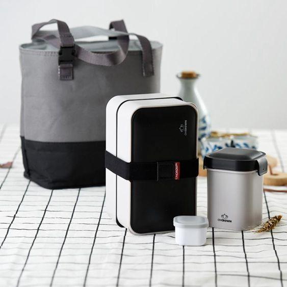 科羅恩雙層日式飯盒可微波爐便當盒學生午餐盒保溫套裝進口材質