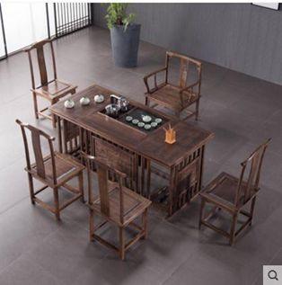 茶桌椅組合新中式實木茶幾簡約喝泡茶桌茶藝桌功夫茶桌茶臺桌
