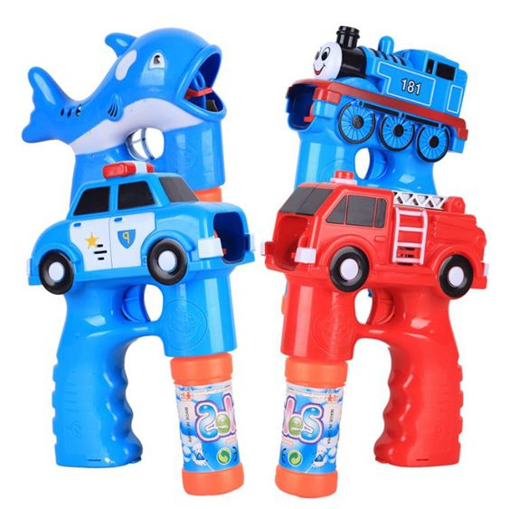 兒童全自動泡泡槍玩具電動警車火車泡泡機吹泡泡器戶外玩具不漏水