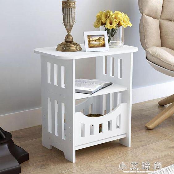 簡約床頭櫃現代客廳儲物小櫃子宿舍臥室簡易仿實木.