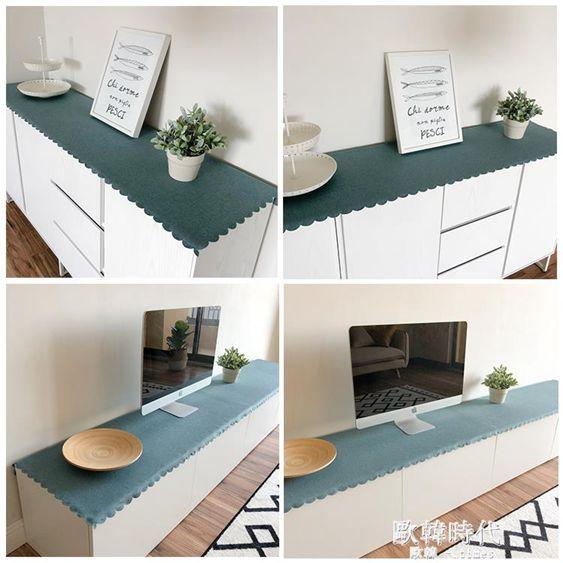 簡約現代客廳電視櫃桌布桌旗北歐餐廳餐邊櫃墊布鞋櫃玄關櫃蓋布墊