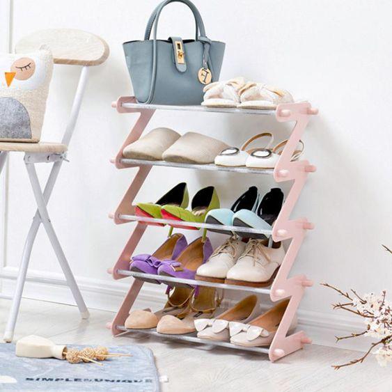 居家家塑料多層鞋架子多功能組裝鞋架家用簡易收納架現代鞋櫃鞋托