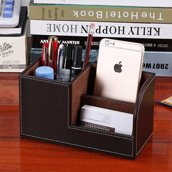 文具收納盒辦公室桌面裝筆筒多  韓國學生可愛名片座架