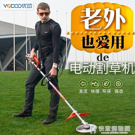 割草機充電式無刷電動草坪除草機打草機背負式園林家用剪草機220vNMS