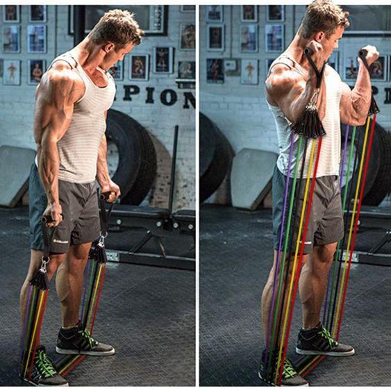 彈力繩健身繩子拉力帶拉力器擴胸器男彈力帶健身器材家用阻拉力繩
