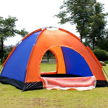 帳篷野外手動搭建雙人帳篷戶外3-4人家庭2人自駕游露營野營單人二室