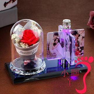 七夕情人節禮物 交換禮物 創意DIY手工定制旋轉相框擺臺相冊生日擺件情侶婚紗照片結婚禮物