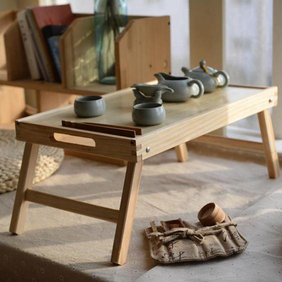 飄窗桌榻榻米茶臺炕上的小桌子摺疊炕桌茶幾吃飯地桌日式實木矮桌