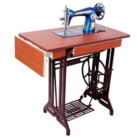 全新飛人牌老式縫紉機家用臺式簡易腳踏裁縫機蝴蝶電動吃厚衣車