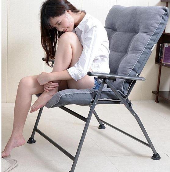 折疊椅折疊椅家用辦公躺椅午休午睡寢室宿舍電腦椅靠背懶人沙發椅JY