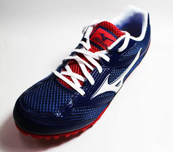 MIZUNO美津濃TMCSPLIT3田徑釘鞋徑賽釘鞋U1GA149042(藍紅)附鞋袋[陽光樂活=]