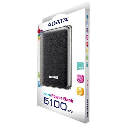 ADATA PV120 5100mAh Power Bank Black (APV120-5100M-5V-CBK) 2