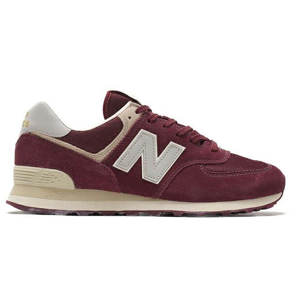 Shoestw【ML574VLB】NEW BALANCE NB574 運動鞋 Wide 麂皮 酒紅卡其 男生尺寸 0