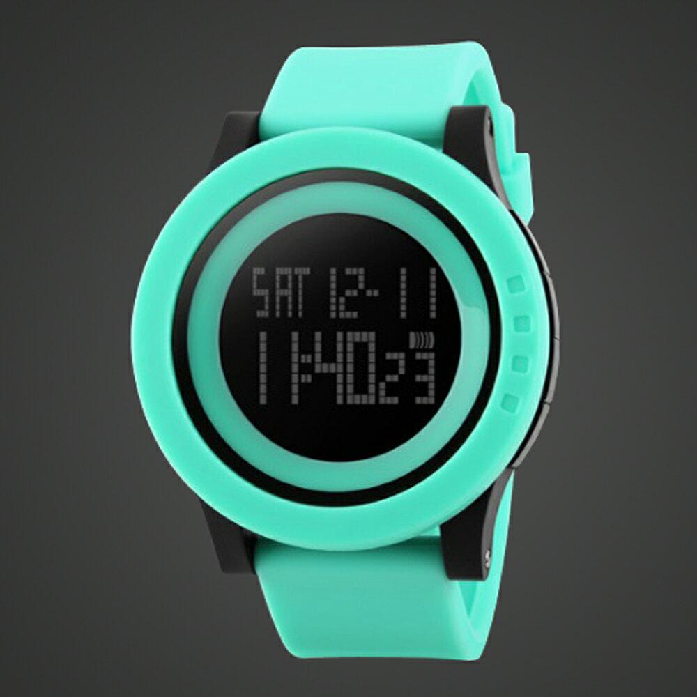 SKMEI時刻美 1142 酷炫螢光色大錶盤防水電子錶 2