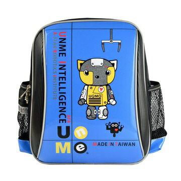 X射線【Cb3037a】UnMe護脊鏡面後背書包(Robot機器人站.藍)3037台灣製造,開學必備/兒童書包/雙肩包