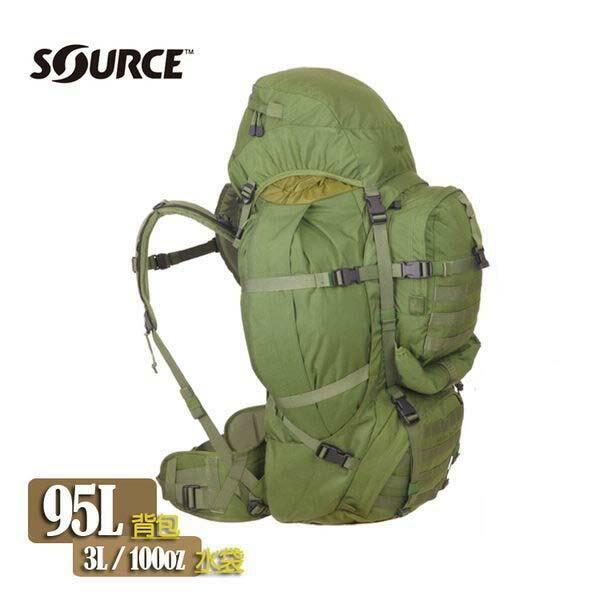 Source PRO95 軍用水袋背包4252000300 橄綠色/城市綠洲(以色列原裝進口)