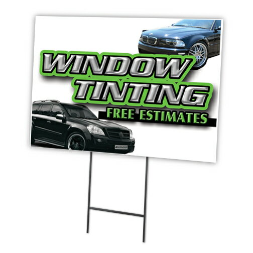 "TUNE-UP 12/""x16/"" Yard Sign /& Stake outdoor plastic coroplast window"