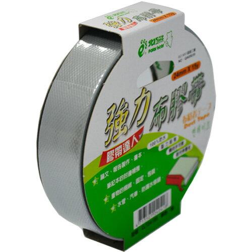 【北極熊】強力布膠帶/布紋膠帶/布質膠帶 CLT2415S (銀色) 24mm×15y