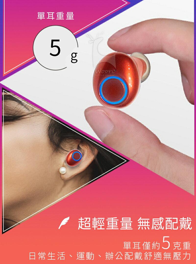 【公司貨】真無線藍牙5.0 雙耳無線藍牙耳機 防汗防水 運動藍芽耳機 無線耳機 聽音樂LINE通話 語音控制 磁吸充電盒 4