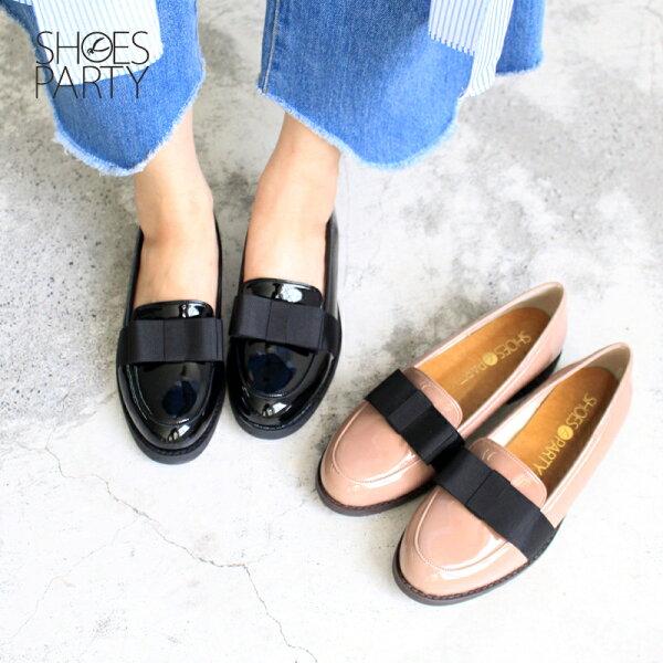 【現貨】【F2-17523P】日本製防水系列-蝴蝶結樂福鞋_ShoesParty