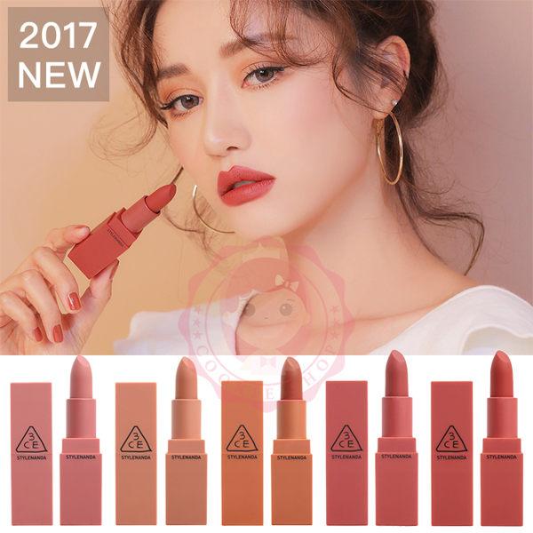 【2017新款】韓國3CEMOODRECIPE微醺玫瑰霧面唇膏(3.5g)【庫奇小舖】