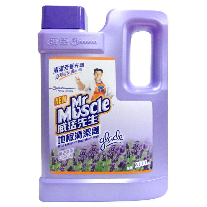 威猛先生 地板清潔劑-薰衣草原 2000ml【康鄰超市】