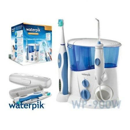 【美國Waterpik】沖牙組合(沖牙機+音波電動牙刷)WP-900W