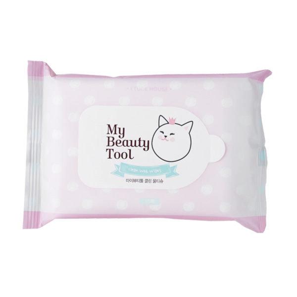 韓國ETUDEHOUSE小貓濕紙巾15抽【櫻桃飾品】【25381】