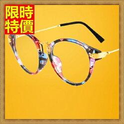☆鏡框眼鏡架-復古圓框時尚花色女配件2色71t20【獨家進口】【米蘭精品】