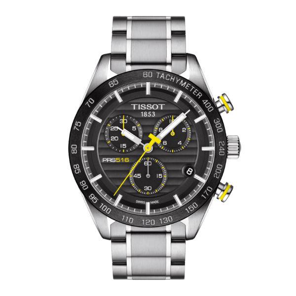 TISSOT天梭T1004171105100 PRS516計時時尚腕錶/黑面42mm