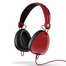 志達電子精品專賣:志達電子S6AVDM-232紅黑美國SkullcandyAviator可換線式飛行員耳罩式耳機foriPhoneipodApple