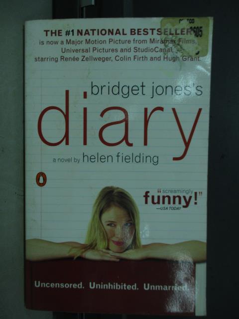 【書寶二手書T1/原文小說_NEC】Diary a novel_Helen fielding
