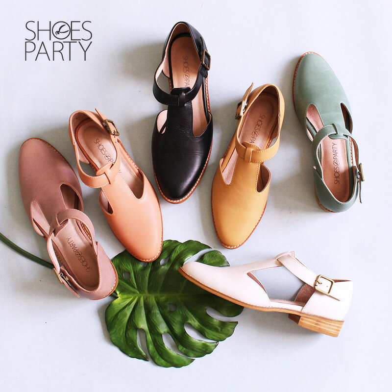 【S2-17328L】T字素面真皮牛津鞋_Shoes Party 0