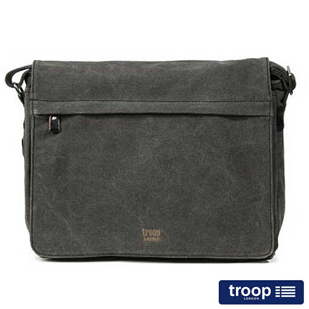 【TROOP】經典品格CLASSIC電腦斜背包/TRP0240BK
