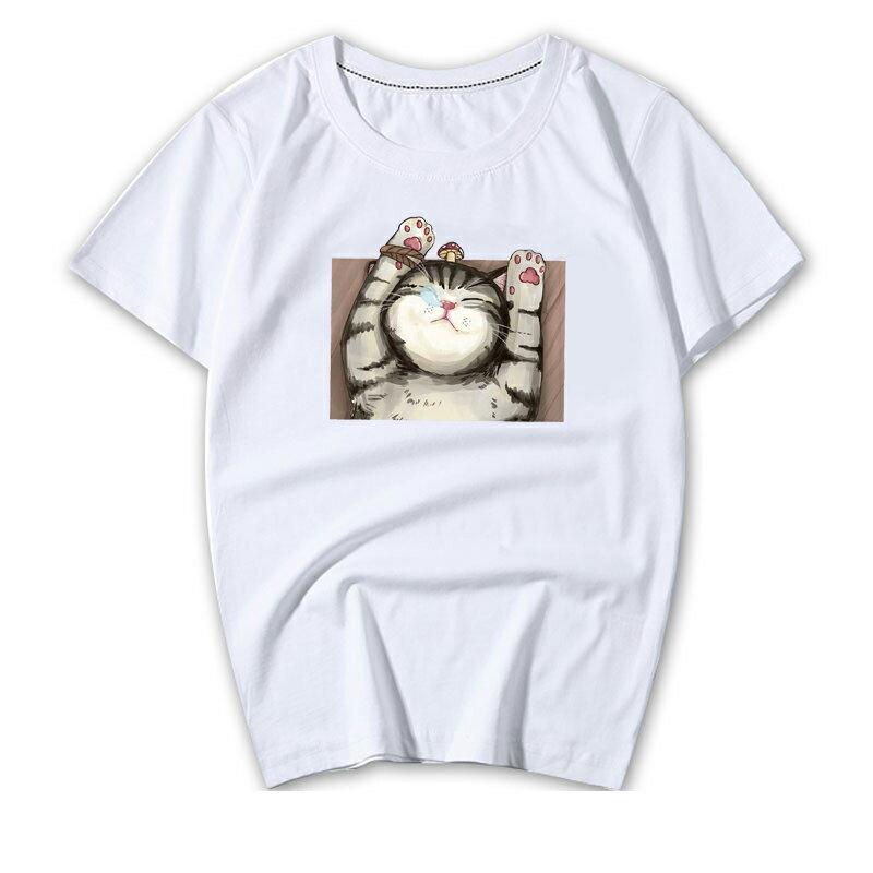 KUSO 搞笑 情侶裝 純棉短T MIT台灣製【YC686-7】短T KUSO睡覺貓 呼嚕貓  動物萌寵 快速出貨 3