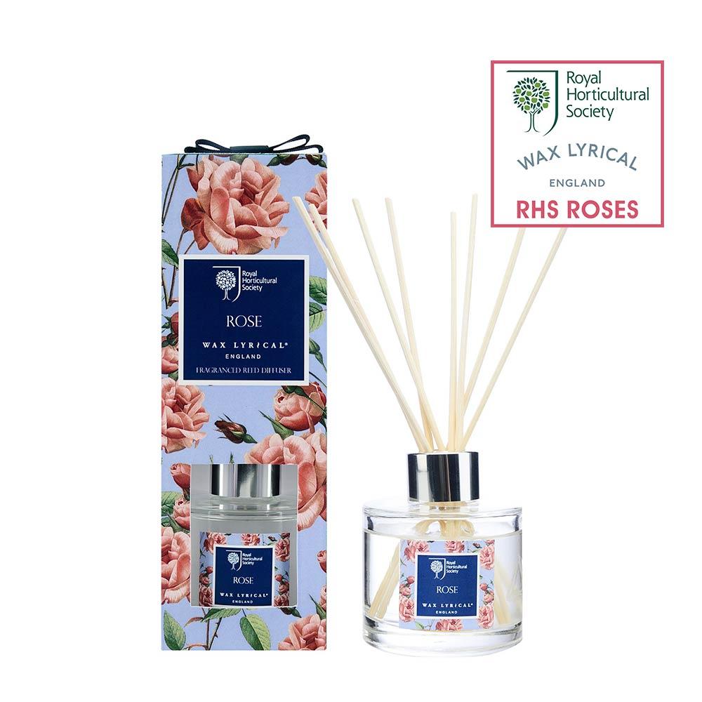 英國Wax Lyrical 玫瑰擴香瓶組100ml-原裝彩盒
