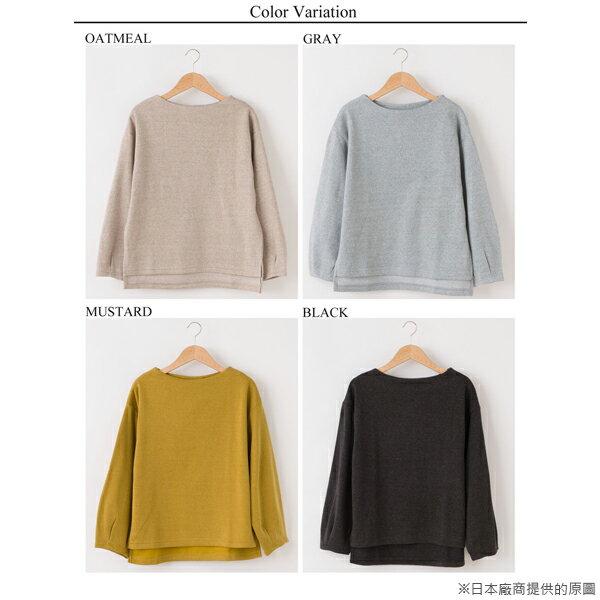 【日本品牌   mitis】打褶袖刷毛長袖上衣 (灰色) 3