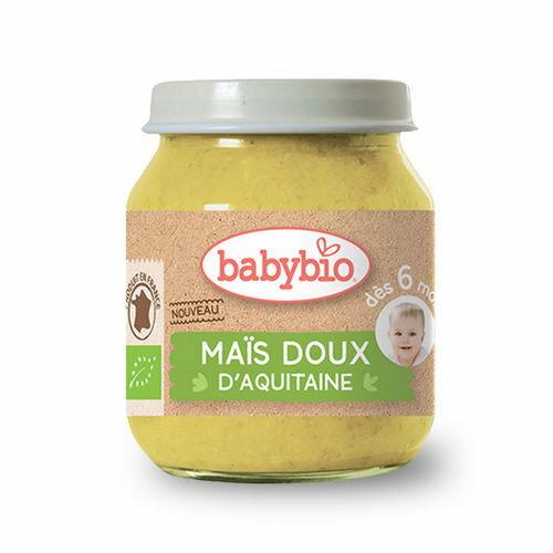 法國 倍優 Babybio 有機甜玉米泥 6m+ 有機蔬菜泥