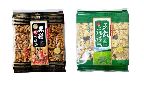 九福 全麥黑糖沙琪瑪/五榖雜糧沙琪瑪 227g/包 奶蛋素