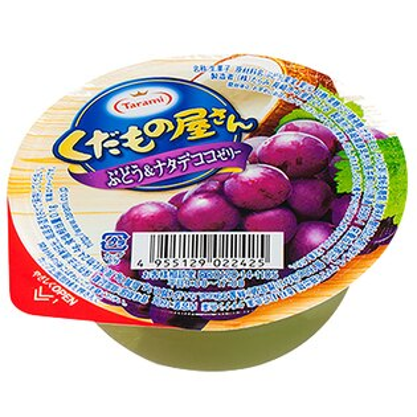 【TARAMI達樂美】水果屋果凍-葡萄椰果口味(160g)
