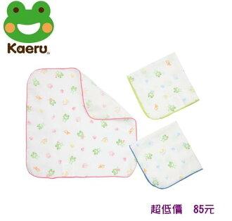 *美馨兒* Kaeru哈皮蛙 -印花紗布手帕 (3入) 85元