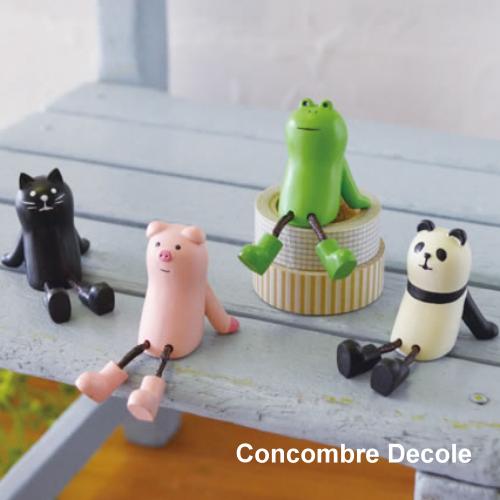 Decole 日本擺飾小玩偶 / 公仔 - Concombre 放鬆的小豬 ( ZCB-78276 ) / 放鬆的青蛙 ( ZCB-78477 ) / 放鬆的熊貓 ( ZCB-78478 ) 現貨