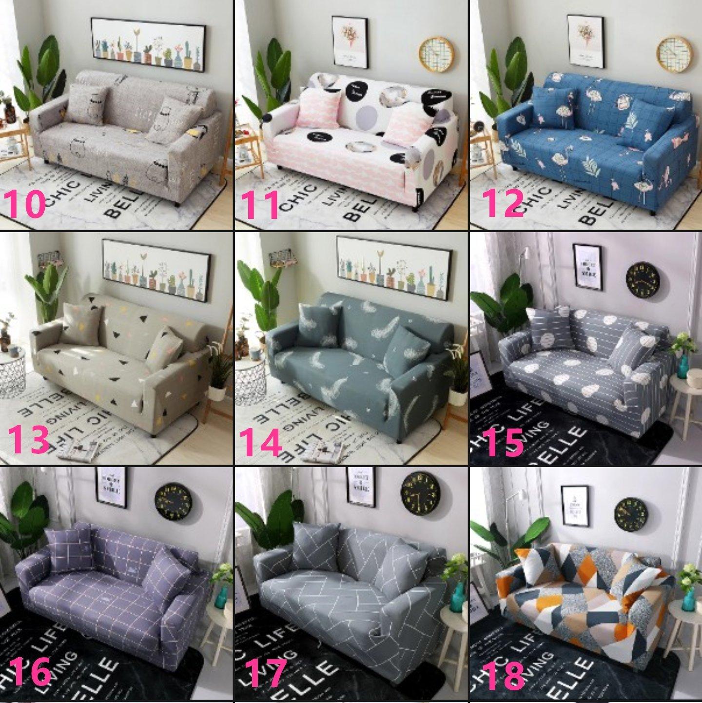 【RS Home】最新45款單人2人3人4人沙發罩彈性沙發套沙發墊工業風北歐床墊保潔墊彈簧床折疊沙發 [單人座送枕套]