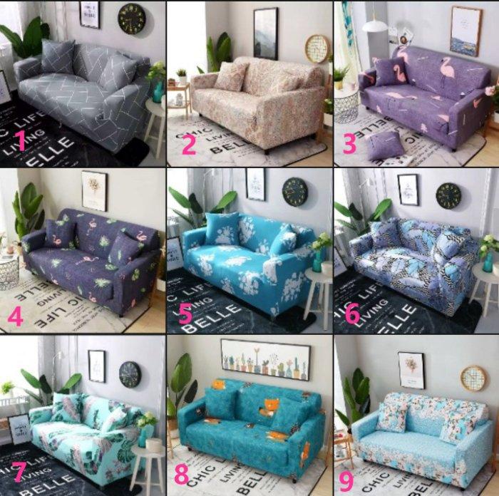 【RS Home】最新45款單人沙發罩彈性沙發套沙發墊工業風北歐床墊保潔墊彈簧床折疊沙發 [單人座送枕套]