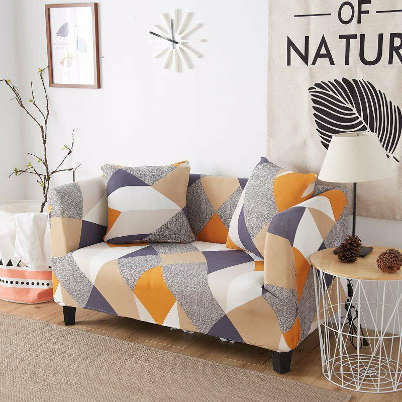 【RS Home】15款花色1+2+3人加送抱枕套沙發罩沙發套彈性沙發套沙發墊床墊保潔墊彈簧床折疊沙發 [1+2+3人]