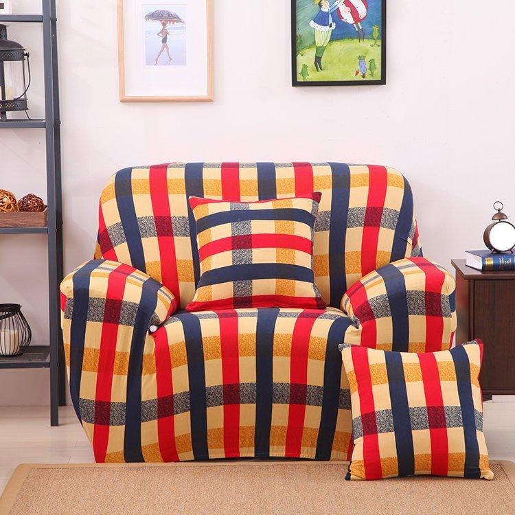 沙發套【RS Home】2人座加送抱枕套沙發罩沙發套彈性沙發套沙發墊沙發布床墊保潔墊沙發彈簧床折疊沙發 [愛丁堡2人座]