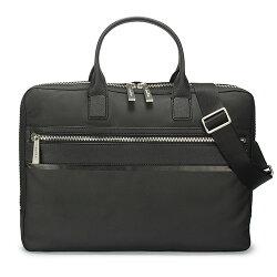 【ibrand 愛名牌】Calvin Klein CK 素面尼龍手提肩斜背二用公事包-黑色 103351