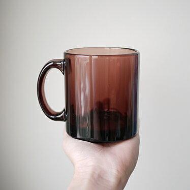 棗紫色耐熱玻璃杯
