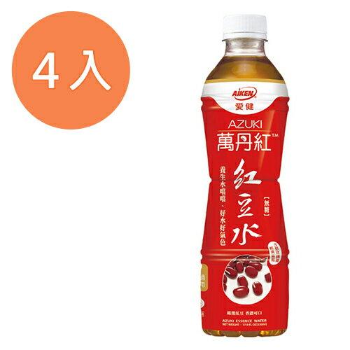 愛健 萬丹紅 紅豆水 530ml (4入)/組
