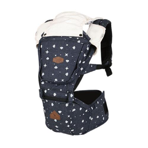 i-angel DENIM 丹寧系列 座椅式背帶/坐墊式背帶/揹巾-白鑽石(總代理公司貨)